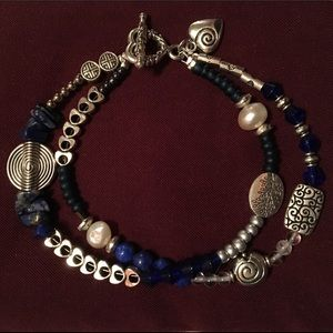 Jewelry - Cobalt Blue and Silver Bracelet